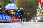 Ilan Van Wilder (BEL) climbs Parliment Street on the Harrogate circuit during the Men U23 Road Race of the UCI World Championships 2019 running 186.9km from Doncaster to Harrogate, England. 27th September 2019.<br /> Picture: Eoin Clarke | Cyclefile<br /> <br /> All photos usage must carry mandatory copyright credit (© Cyclefile | Eoin Clarke)
