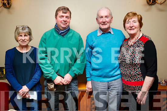 Kathy Carey, Jerry O'Riordan, John Murrihy and Eileen Murrihy, pictured at the Irish Guide Dogs fundraiser dance at the Meadowlands Hotel, Tralee on Saturday night last.