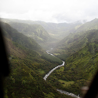 Landscapes taken from a helicopter tour around the island of Kauai, HI