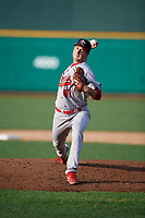 Peoria Chiefs pitcher Kyle Leahy (41) during a Midwest League game against the Fort Wayne TinCaps on July 17, 2019 at Parkview Field in Fort Wayne, Indiana.  Fort Wayne defeated Peoria 6-2.  (Mike Janes/Four Seam Images)