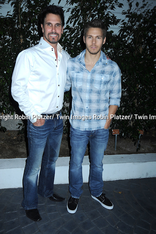 Don Diamont and Scott Clifton  attending the Television Academy's Daytime Programming Peer Group presents a cocktail reception in honor of the 2011 Daytime Emmy Awards Nominees on June 16, 2011 .at The SLS Hotel at Beverly Hills in California.