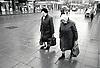Elderly women shopping in Nottingham, UK 1989