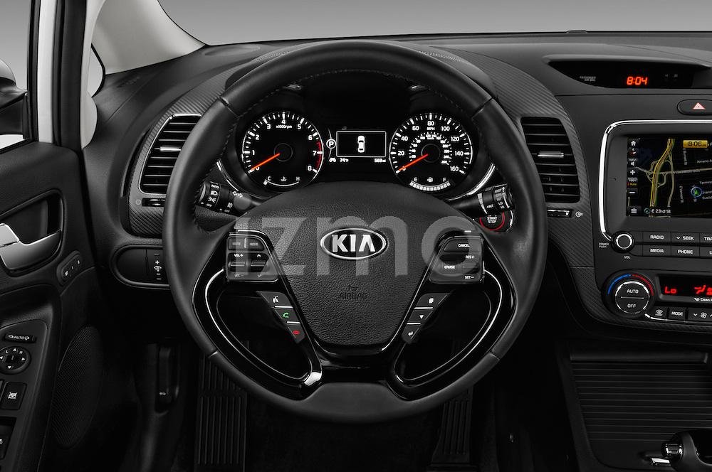 Car pictures of steering wheel view of a 2017 KIA Forte EX-AT 4 Door Sedan Steering Wheel