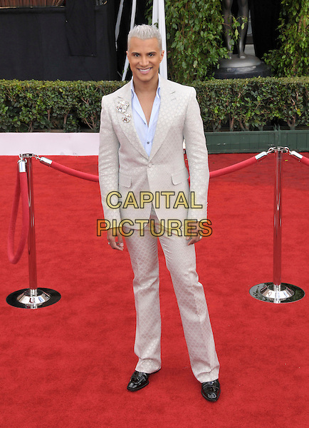 JAY MANUEL.Attends The 14th Annual Screen Actors Guild Awards, held at The Shrine Auditorium in Los Angeles, California USA, January 27th 2008..full length cream patterned print suit.CAP/DVS.©Debbie VanStory/Capital Pictures