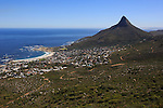 CAPE TOWN, SOUTH AFRICA FEBRUARY 28: A view of the pipe track to Kasteel Port with a view of Camps Bay, Lions Head and The Atlantic ocean on February 28, 2016 in Cape Town, South Africa. The city offers many different hiking trails close to the city center. The Pipe track to Kasteel port is one of the most challenging hikes in Cape Town. (Photo by: Per-Anders Pettersson)