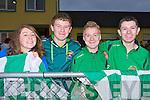 Katie Horan, Tadgh McCarthy, Cormac Keane and Oltan Heffernan celebrate Milltown/Castlemaine narrow victory over Clondegad in Milltown on Sunday
