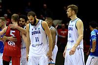GRONINGEN - Basketbal, Donar - Spirou, Martiniplaza, Europe Cup, seizoen 2019-2020, 27-11-2019,  teleurstelling bij Donar speler Shane Hammink en Donar speler Thomas Koenis
