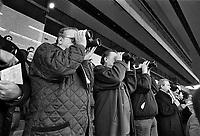 - Milan, San Siro Racecourse, harness racing (November 1990)....- Milano, ippodromo di S.Siro, corse al trotto (novembre 1990)
