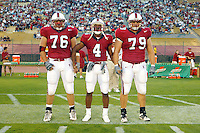 Captains during Stanford's 63-26 win over San Jose State on September 14, 2002 at Stanford Stadium.<br />