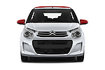 Car photography straight front view of a 2015 Citroen C1 Airscape-Feel-Edition 3 Door Micro Car Front View