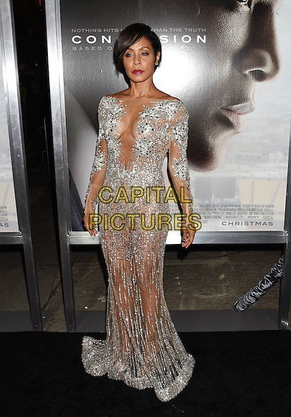 WESTWOOD, CA - NOVEMBER 23: Actress Jada Pinkett Smith attends the screening of Columbia Pictures' 'Concussion' at the Regency Village Theater on November 23, 2015 in Westwood, California.<br /> CAP/ROT/TM<br /> &copy;TM/ROT/Capital Pictures