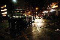 SÃO PAULO, SP, 15.05.2014 - BADERNAÇO CONTRA A COPA DO MUNDO - Mais uma manifestação na cidade de São Paulo nesta quinta-feira(15) denominada Badernaço Contra a Copa, protesto este contra os gastos excessivos da Copa do Mundo.  - (Foto: Aloisio Mauricio / Brazil Photo Press)