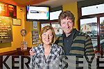 Hanna Linehan and Dermot O'Callaghan (barman) of Linnanes Bar in Killarney celebrate winning 10,000 euros worth of advertising on Setanta TV..