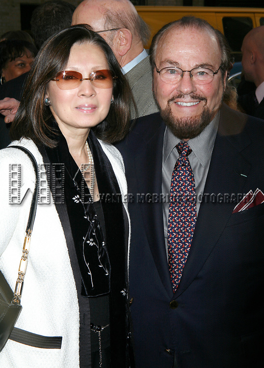 James Lipton & wife arriving for the Opening Night Performance of LOVEMUSIK at the Biltmore Theatre in New York City.<br />May 3, 2007
