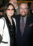 James Lipton & wife arriving for the Opening Night Performance of LOVEMUSIK at the Biltmore Theatre in New York City.<br />