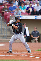 Kane County Cougars catcher Wilson Contreras #19 bats during a game against the Cedar Rapids Kernels at Veterans Memorial Stadium on June 8, 2013 in Cedar Rapids, Iowa. (Brace Hemmelgarn/Four Seam Images)