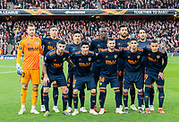 Valencia team before the UEFA Europa League Semi-Final 1st leg match between Arsenal and Valencia at the Emirates Stadium, London, England on 2 May 2019. Photo by Andrew Aleksiejczuk / PRiME Media Images.