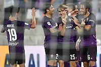 Federico Chiesa of Fiorentina celebrates with team mates  after scoring goal of 3-1 <br /> Firenze 19/08/2019 Stadio Artemio Franchi <br /> Football Italy Cup 2019/2020 <br /> ACF Fiorentina - Monza  <br /> Foto Andrea Staccioli / Insidefoto