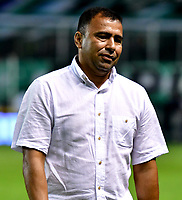 PALMIRA-COLOMBIA, 19-02-2019: Harold Rivera, técnico de Unión Magdalena durante partido de la fecha 5 entre Deportivo Cali y Unión Magdalena, por la Liga Aguila I 2019, jugado en el estadio Deportivo Cali (Palmaseca) en la ciudad de Palmira. / Harold Rivera, coach of Union Magdalena during a match of the 5th date between Deportivo Cali and Union Magdalena, for the Liga Aguila I 2019, at the Deportivo Cali (Palmaseca) stadium in Palmira city. Photo: VizzorImage  / Nelson Ríos / Cont.