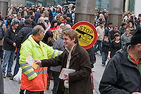 Saturday Afternoon Flyer Hand out In preperation of NIA rally Nov 30th & Public Sector Pension Strike 19th Nov 2011