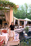 Danielle Price, sommelier for The Wynn, Las Vegas pictured in the Italian restaurant Bartolatta which not only features a luxurious dining room, but also private, outdoor cabanas surrounding a shimmering lagoon.
