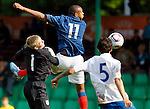 Soccer, UEFA U-17.France Vs. England. Sebastien Haller, scores.Indjija, 03.05.2011..foto: Srdjan Stevanovic