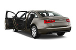 Rear three quarter door view of a 2014 Audi A6 AVUS 4 Door Sedan 2WD