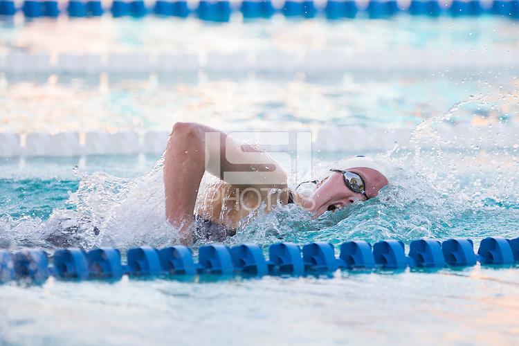 Santa Clara, California - Saturday June 4, 2016: Jillian Hatch races in the Women's 400 LC Meter Freestyle at the Arena Pro Swim Series at Santa Clara B final.
