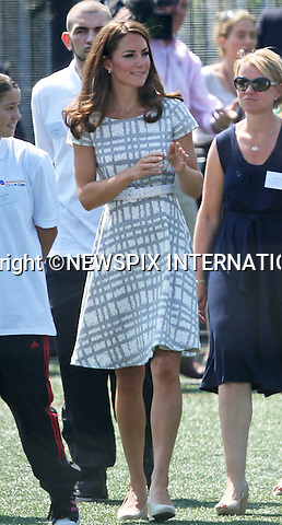 "CATHERINE, DUCHESS OF CAMBRIDGE.attends the sports-themed event, to launch the Coach Core programme, a partnership between their Foundation and Greenhouse at Bacon's College, South London_26/07/2012.Mandatory credit photo: ©SBP/NEWSPIX INTERNATIONAL..(Failure to credit will incur a surcharge of 100% of reproduction fees)..                **ALL FEES PAYABLE TO: ""NEWSPIX INTERNATIONAL""**..IMMEDIATE CONFIRMATION OF USAGE REQUIRED:.Newspix International, 31 Chinnery Hill, Bishop's Stortford, ENGLAND CM23 3PS.Tel:+441279 324672  ; Fax: +441279656877.Mobile:  07775681153.e-mail: info@newspixinternational.co.uk"