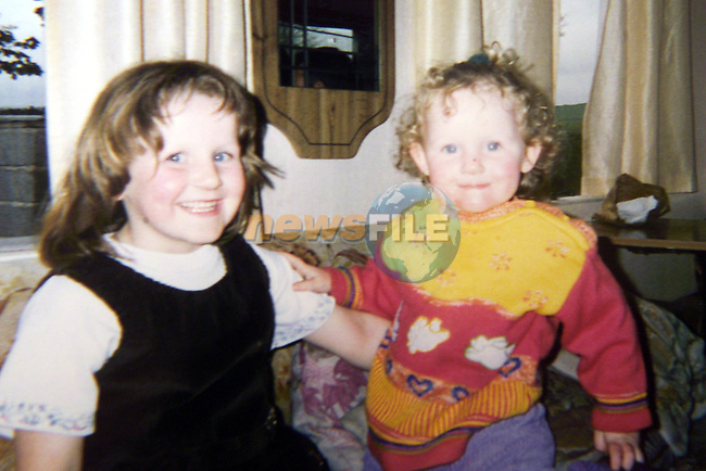 AnnMarie and her sister Michelle Fitzsimons who Died in the Fire at there Family home in Oldcastle Co Meath.Pic Fran Caffrey Newsfile.©Newsfile Ltd.
