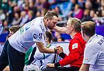 Rene VILLADSEN (#12 SC DHfK Leipzig) \Andre HABER (Trainer SC DHfK Leipzig) \ beim Spiel in der Handball Bundesliga, SG BBM Bietigheim - SC DHfK Leipzig.<br /> <br /> Foto &copy; PIX-Sportfotos *** Foto ist honorarpflichtig! *** Auf Anfrage in hoeherer Qualitaet/Aufloesung. Belegexemplar erbeten. Veroeffentlichung ausschliesslich fuer journalistisch-publizistische Zwecke. For editorial use only.