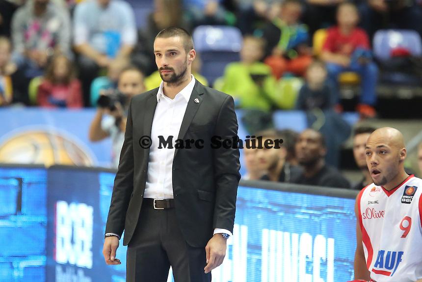 Head Coach Marcel Schroeder (Wuerzburg)- Fraport Skyliners vs. s.Oliver Baskets Würzburg, Fraport Arena Frankfurt
