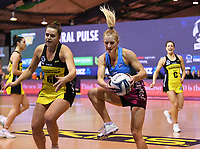 4th July 2020, Auckland, New Zealand;  Shannon Saunders.<br /> Central Pulse versus Southern Steel. ANZ Premiership Netball. Auckland Netball Centre, Saturday 4 July 2020.