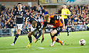 Dundee's Martin Boyle is sent off after pulling down Dundee Utd's Stuart Armstrong