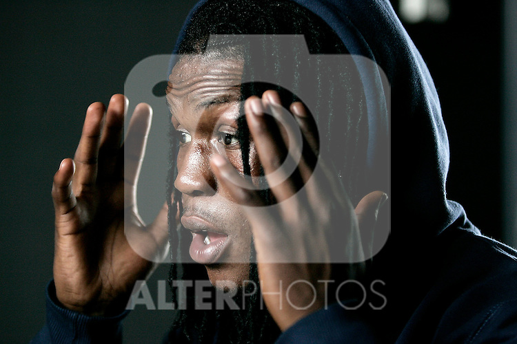 Real Madrid's Royston Drenthe during a portrait session, April 18, 2008. (ALTERPHOTOS/Alvaro Hernandez)