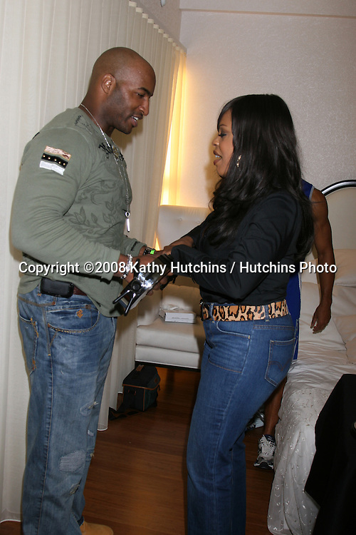 Randy Ritchwood & girlfriend Niecy Nash.at the GBK Emmy Gifting Suites at the Mondrian Hotel  in West Los Angeles, CA on.September 19, 2008.©2008 Kathy Hutchins / Hutchins Photo....