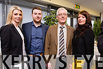 Lil Moloney (Presenter for Waterford Matters), Stephen Kelly (Producer for Waterford Matters), Sean Hurley, Mairead Hurley (Farmers Bridge) at the official launch of Munster Regional Office of Irish TV at the HCT Building IT Tralee North Campus on Monday