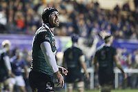 Ricky Andrew of Nottingham Rugby during the Greene King IPA Championship match between London Scottish Football Club and Nottingham Rugby at Richmond Athletic Ground, Richmond, United Kingdom on 16 October 2015. Photo by David Horn.