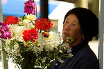 Woman Holding a Flower Bouquet at the Portland Farmer's Market