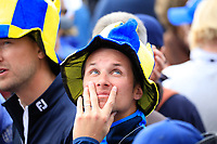 Europe Fan during the sunday singles at the Ryder Cup, Le Golf National, Paris, France. 30/09/2018.<br /> Picture Phil Inglis / Golffile.ie<br /> <br /> All photo usage must carry mandatory copyright credit (&copy; Golffile | Phil Inglis)
