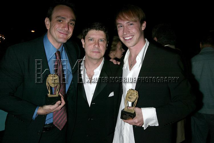 Hank Azaria  ( Winner - SPAMALOT ), Michael McGrath ( past winner 1996 ) and .Tyler Maynard ( Winner - ALTAR BOYZ ).Attending the 61st Annual Theatre World Awards at Studio 54 in New York City..May 23, 2005.© Walter McBride /