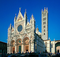 The exterior of the Sienna Cathedral. Italy.