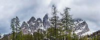 Juilan Alps, seen on the Vrsiska Cesta (road) aka Vrsic Pass near Kranjska Gora in the Triglav National Park, Slovenia