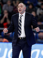 Real Madrid's coach Pablo Laso during Spanish Basketball King's Cup match.February 07,2013. (ALTERPHOTOS/Acero) /Nortephoto