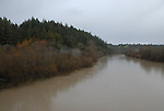 Russian River at high water at Wohler Bridge