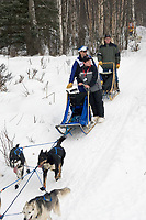 Steve Rasmussen w/Iditarider on Trail 2005 Iditarod Ceremonial Start near Campbell Airstrip Alaska SC