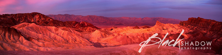 Sunrise at Zabriskie Point, Death Valley National Park, USA, March 2012
