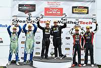 IMSA Continental Tire SportsCar Challenge<br /> Lime Rock Park 120<br /> Lime Rock Park, Lakeville, CT USA<br /> Saturday 22 July 2017 <br /> 27, Mazda, Mazda MX-5, ST, Britt Casey Jr, Matt Fassnacht, 25, Mazda, Mazda MX-5, ST, Chad McCumbee, Stevan McAleer, 84, BMW, BMW 328i, ST, James Clay, Tyler Cooke<br /> World Copyright: Richard Dole<br /> LAT Images<br /> ref: Digital Image RD_LRP_17_01183