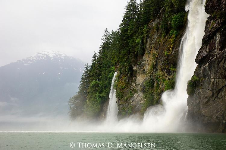 Great Bear Falls at Knight Inlet in British Columbia, Canada.