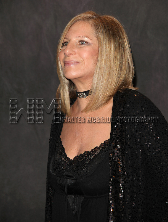 """After performance photo op with .Barbra Streisand as she celebrates the release of """"Love Is The Answer"""", her new album of jazz standards and classics, by singing a selection of these songs at New York's legendary Village Vanguard on Saturday, September 26, where she last performed in 1961 as the opening act for Miles Davis. Reception at The Waldord Astoria Hotel, NYC..© Alice Erardy  Starlitepics"""